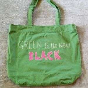 Green is the New Black Tote NWOT